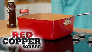 Red Copper Square Pan Video